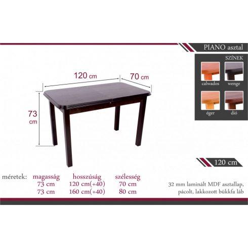 Piano 4 személyes étkezőasztal