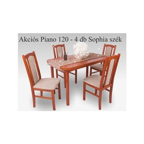 Sophia 4 személyes étkezőgarnitúra Piano asztallal