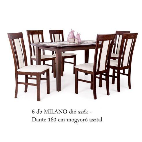 Dante asztal + 6 db Milano szék